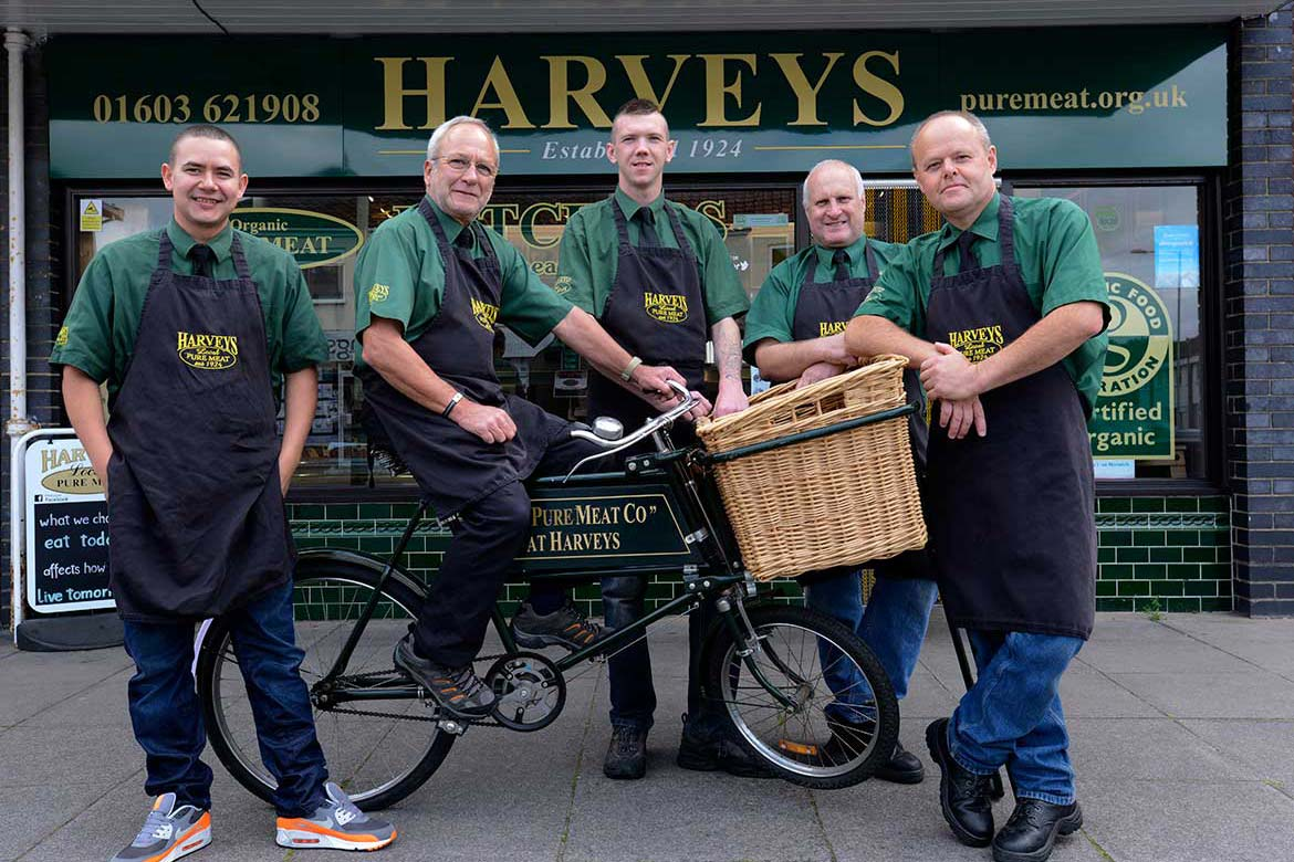 Photography for Harveys Butchers in Norfolk